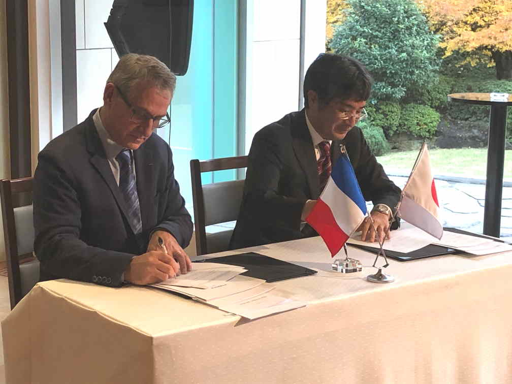 Olivier BAUD, CEO Energy Pool Développement & Nobuhide AKIMOTO, CEO TEPCO Energy Partner