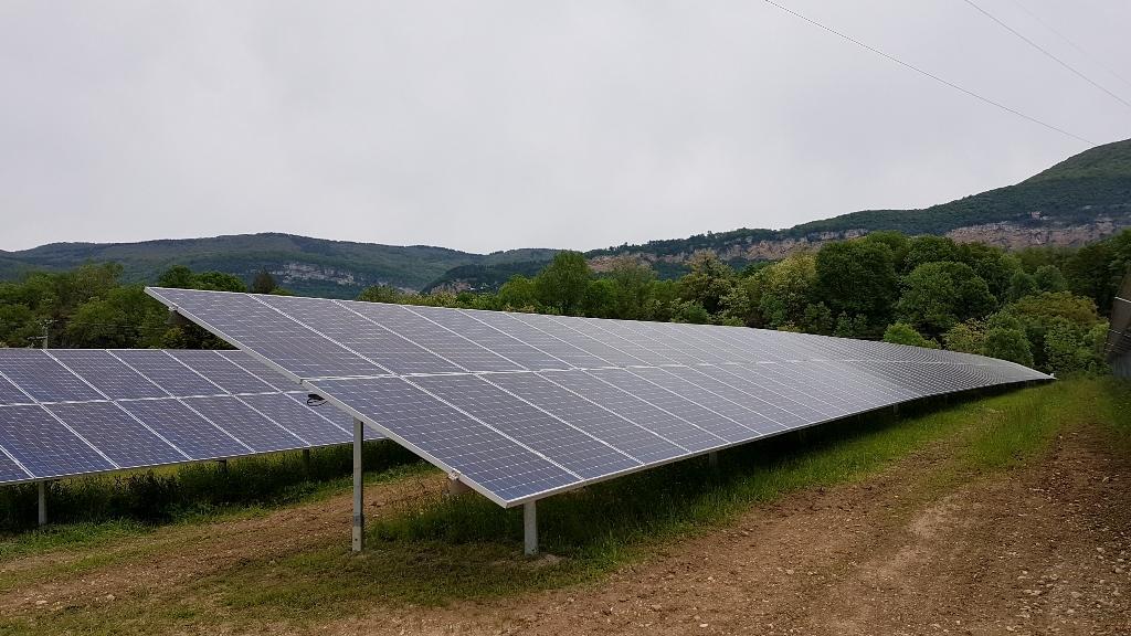 Parc photvoltaïque de Villebois dans l'Ain ©CNR
