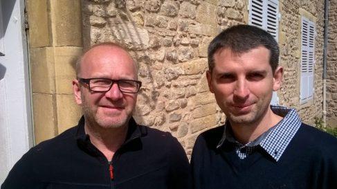 Benoit Ferrari, du Centre Ecotox ( Lausanne) et Stéphane Pesce, du CentreIRSTEA de Lyon - photo Enviscope.com