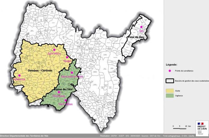 Eau : alerte sécheresse pour le bassin Dombes-Certines