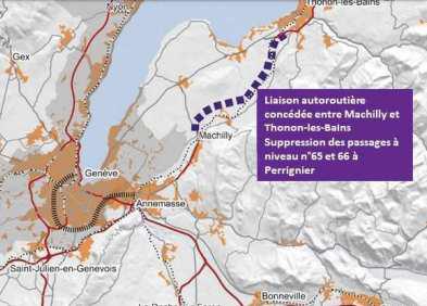 A 412: Le projet d'autoroute Thonon-les Bains – Machilly déclaré d'utilité publique