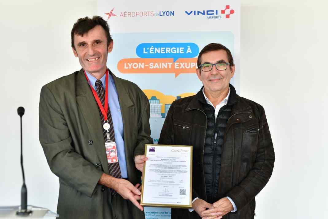 Aéroport Lyon Saint-Exupéry : baisse de la consommation d'énergie par passager