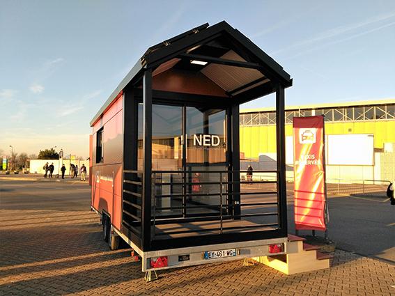 Ned teste son concept de tiny house solaire, autonome et mobile