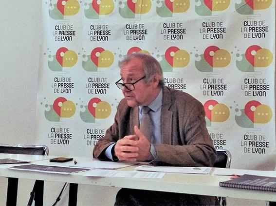Jacques Archimbaud, garant de la concertation du projet de prolongation de la concesssion du Rhône. ©B. Mortgat