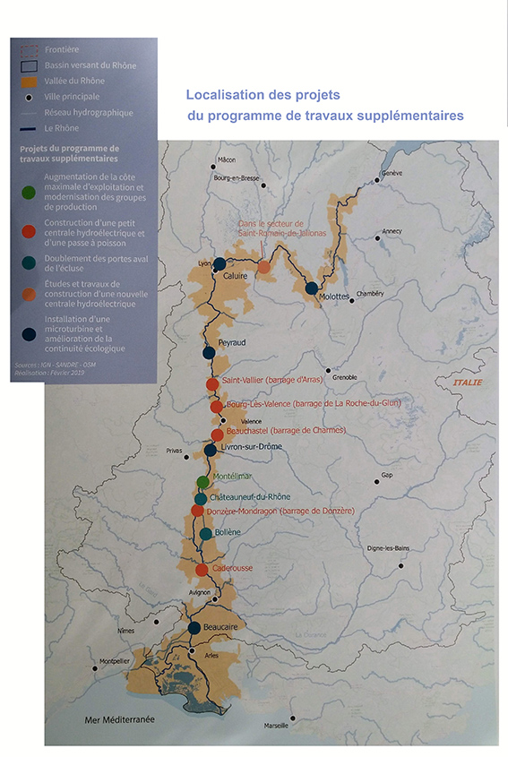Concession du Rhône: la prolongation prévoit un programme d'études et travaux de 500 M€
