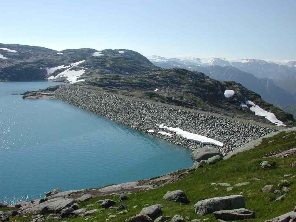Le barrage de Jukla Norvege ( photo Statkraft) : l'entreprise d'Etat norvégienne tire 90% de sa production de l'hydro-électricité.