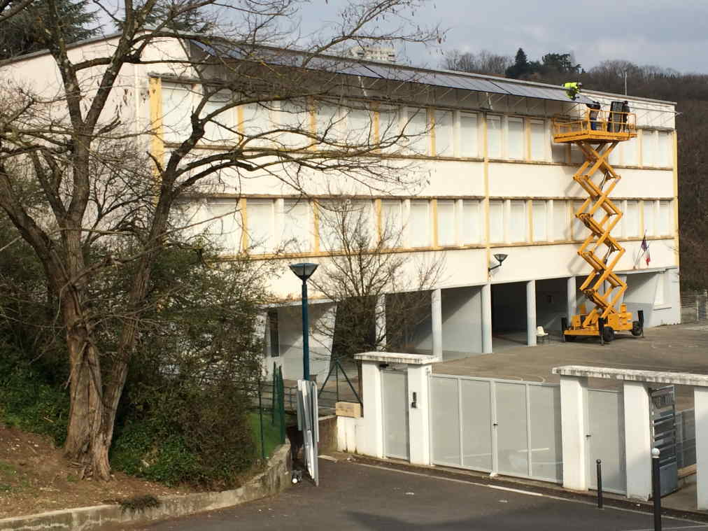 Le chantier de Rillieux ( Toits en Transition)