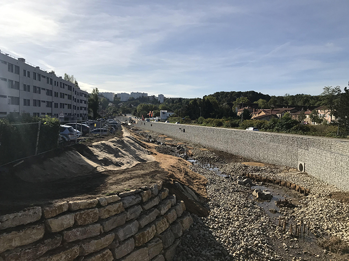 Prévention des inondations: les travaux d'aménagement sur l'Yzeron progressent