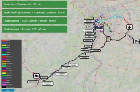 Le projet proposé par SUPRAWAYS permettrait selon l'entreprise de compléter efficacement les liaisons entre Saint-Etienne et Lyon ( photo Supraways)