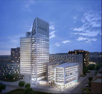 L'ensemble des activités tertiaires de Solvay en France sera rassemblé à Lyon dans le très innovant immeuble Silex², développé par Covivio ©Covivio-Asylum