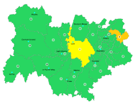 Vigilance orange en Vallée de l'Arve et jaune sur le Lyonnais Nord-Isère pour pollution aux particules