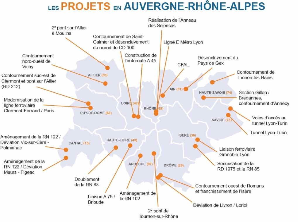 Les 24 projets d'infrastructures à réaliser en Aura