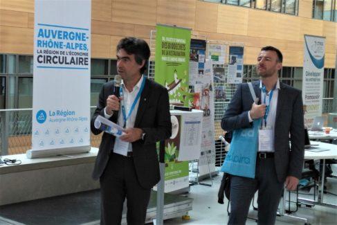 Eric Fournier, vice-président de la Région et Denis Cocconcelli, directeur du CIRIDD et de la plateforme Eclaira.org
