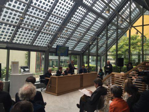 L'inauguration du siège turinois du Forum des routes ferroviaires de la Soie ( photo TELT)