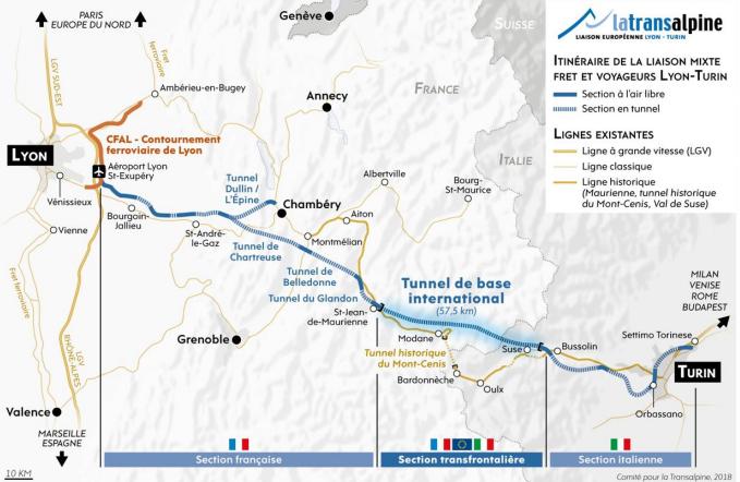 L'Europe prête à financer 50 % de la liaison Lyon-Turin