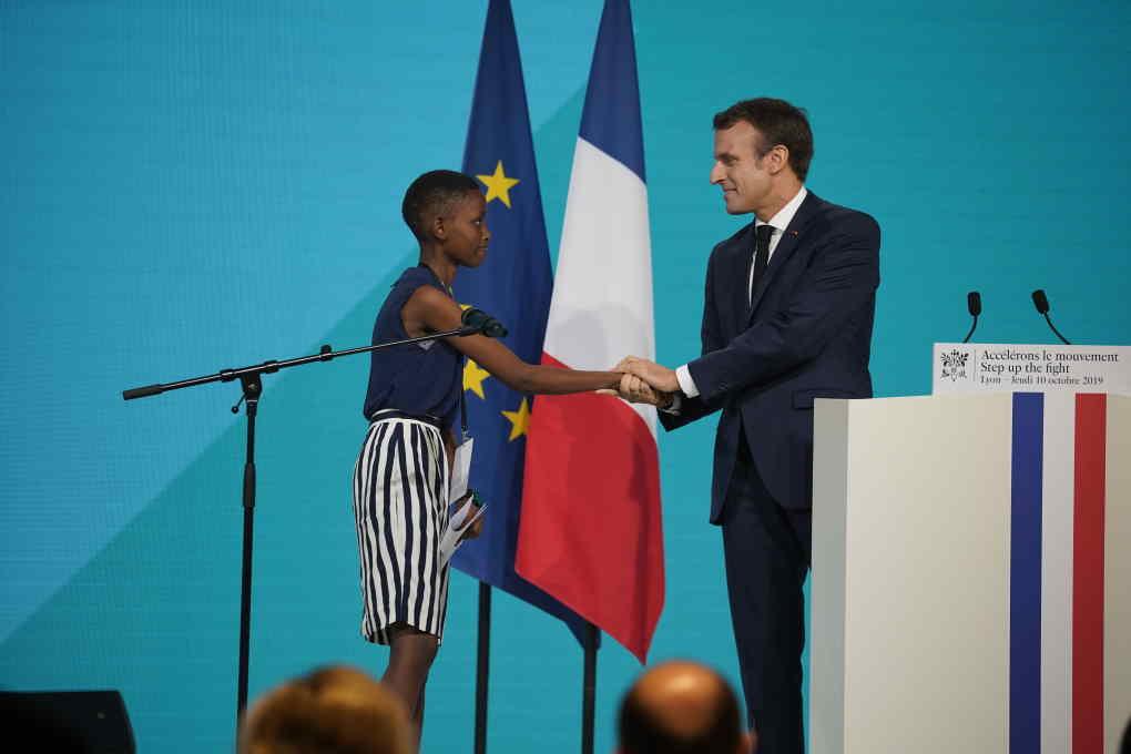 Emmanuel Macron Fonds Mondial