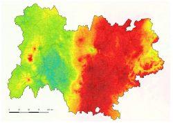 La montagne de plus en plus polluée par l'ozone ( document Atmo AuRA)