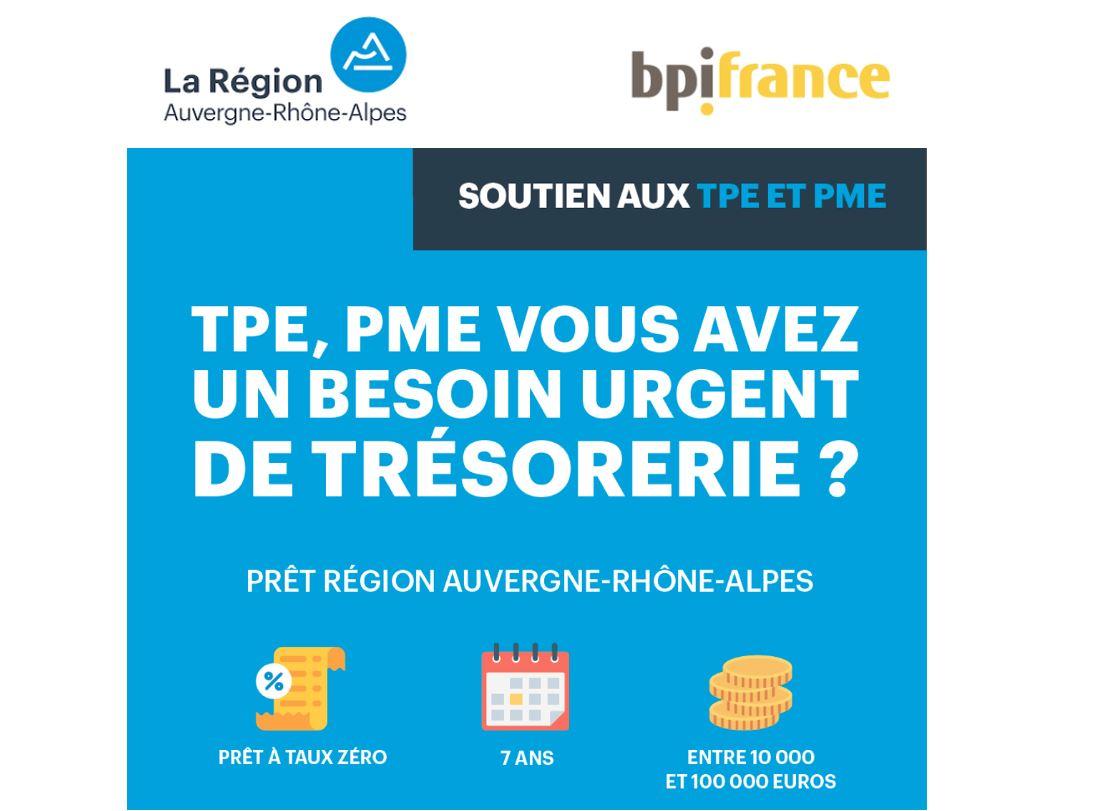 Covid-19 : Auvergne-Rhône-Alpes et Bpifrance lancent un prêt régional de soutien aux TPE et PME