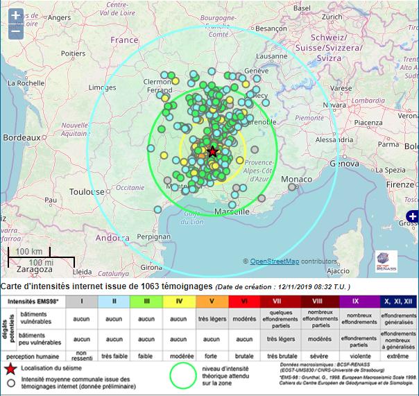 Séisme de magnitude 5,4 dans la Drôme ce lundi matin