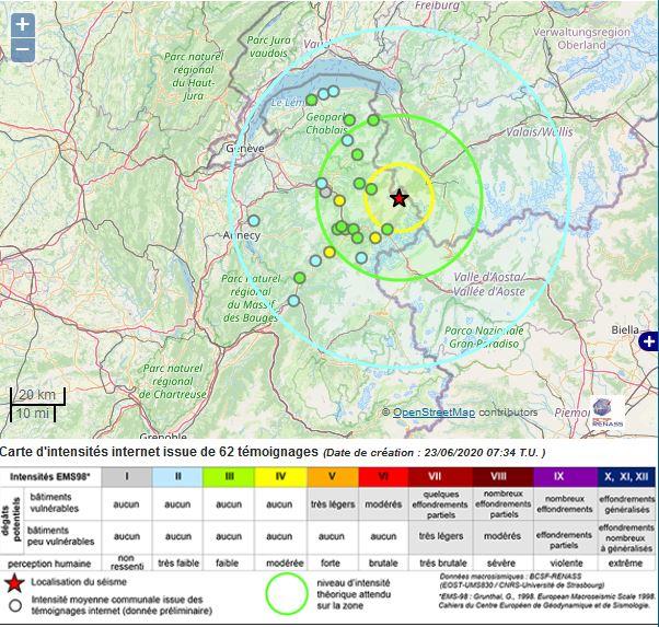 Séisme de magnitude 4,1 en Haute-Savoie